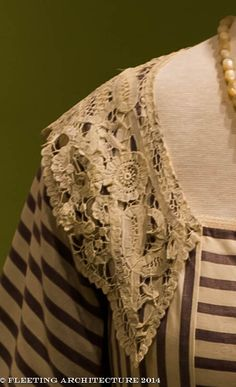 Closeup of Lady Mary's dress from Downton Abbey
