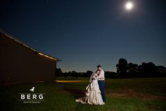 Night time portrait - couple portrait under the stars - Louisiana Wedding Photography - Berg Photography