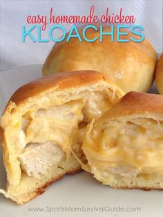Looking for something different for dinner? Try these easy homemade Chicken Kolaches. Works as a great grab-and-go meal or you can even make up a big batch, freeze and pull out a few at a time! ** Make biscuits from scratch for a REAL food meal! I Love Food, Good Food, Yummy Food, Something Different For Dinner, Fast Food, Fried Chicken Recipes, So Little Time, Food To Make, Food Porn