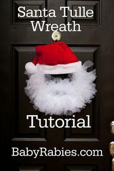 Santa Tulle Wreath Tutorial