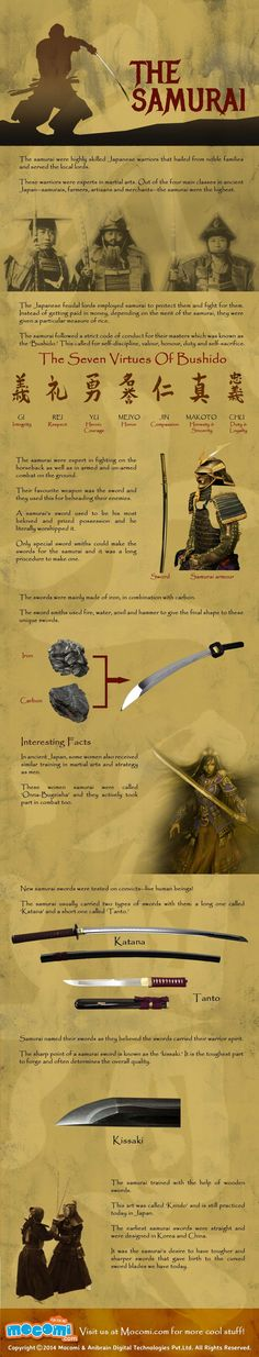 The Samurai #infographic                                                                                                                                                                                 Más