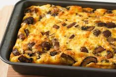 This type of breakfast casserole with eggs, meat, and veggies is one of my favorite South Beach Diet breakfast options...phase 1
