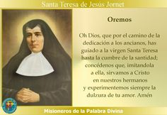 MISIONEROS DE LA PALABRA DIVINA: SANTORAL - SANTA TERESA DE JESÚS JORNET