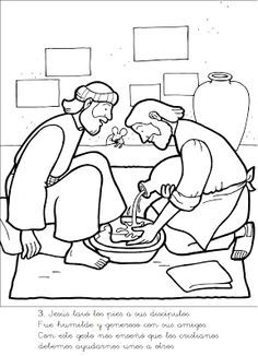 Free Coloring Page Jesus Washes Disciples Feet The