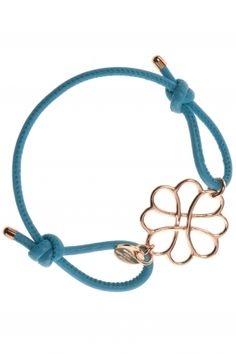 daila I blue leather bracelet with gold plated ornament I designed by marjana von berlepsch I NEWONE-SHOP.COM