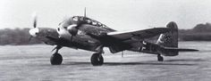 """The Messerschmitt Me 410 Hornisse (""""Hornet""""), which worked as heavy fighter and Schnellbomber (High-speed bomber), started work on 1943 until the end of the war. It had 16 variants, some with rocket launchers or 50 mm guns."""