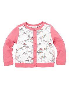 Baby Carousel Jersey Cardigan