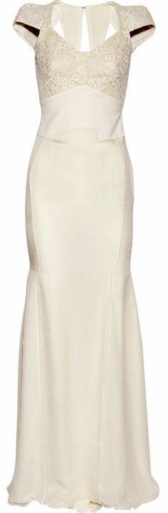 antonio berardi cream wedding dress  