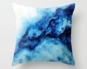 Beach Abstract Watercolor Throw Pillow by jenmerli Art Aquarelle, Abstract Watercolor Art, Teal Rooms, Moss Art, Art Textile, Art Abstrait, Designer Throw Pillows, Accent Pillows, Decoration