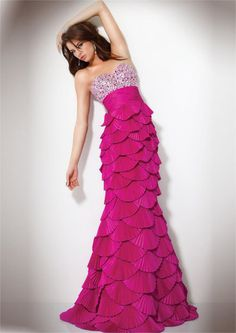 Evening Dress with Strapless Layered Skirt Amazing Mermaid by Jovani