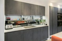 It's essential that the work areas of your kitchen, such as the sink and hob are well lit. Kitchen Worktop, Kitchen Cabinets, Working Area, Kitchen Lighting, Kitchen Interior, Sink, Flooring, Home Decor, Sink Tops