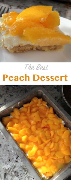 The best peach dessert! perfect for peach season - recipe on NoBiggie.net