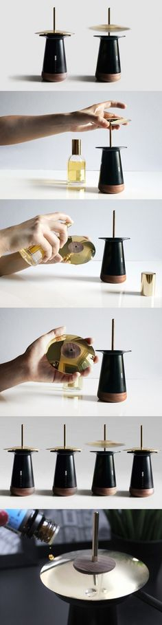 You can do better than spraying that perfume on your wrist. You can have a levitating metallic disc spin around and diffuse the perfume into the atmosphere. Sounds way more cool, doesn't it? #Yankodesign