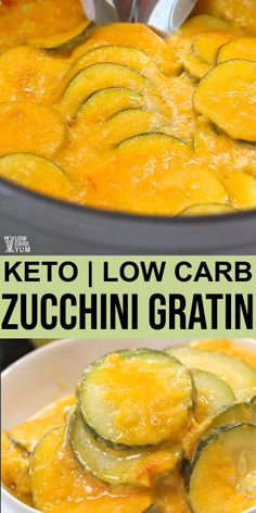 Zucchini Gratin Keto Low Carb Zucchini Gratin // keto meal ideas // keto meal recipes // ketogenic recipes Keto Low Carb Recipes by LowCarbYum Ketogenic Diet For Beginners, Ketogenic Recipes, Low Carb Recipes, Diet Recipes, Cooking Recipes, Healthy Recipes, Healthy Food, Keto Veggie Recipes, Ketogenic Cookbook