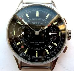 Strela Watch Chronograph Movement 3133 POLJOT | eBay