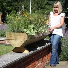 Micro Manger Raised Bed Planter - Garden Planters at Harrod Horticultural Trough Planters, Wooden Garden Planters, Raised Planter Beds, Raised Beds, Autumn Garden, Grow Your Own, Planter Boxes, Harrods, Wood Projects