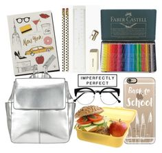 """School"" by may-calista ❤ liked on Polyvore featuring interior, interiors, interior design, home, home decor, interior decorating, Faber-Castell, Garance Doré, Kate Spade and Casetify"