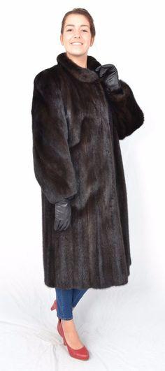 20a8d87001c US124 Women beauty Mink fur coat jacket abrigo de vison Nerzmantel Size L  16 18