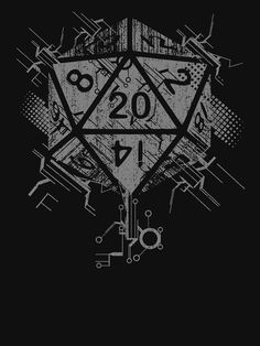 Of Power' T-Shirt by artlahdesigns Dnd Dragons, Dungeons And Dragons Dice, Rpg Wallpaper, Cyberpunk Games, Dice Tattoo, Dungeon Master's Guide, Geeks, Dnd Art, Monsters