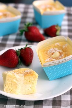 To Food with Love: Hokkaido Cupcakes with Cream