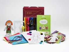 Paper Doll set -- materials and instructions to design dolls and doll clothes $12 (great for a girl's party)