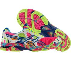 STILL SO MUCH WANT!! Asics Womens Gel-Noosa Tri 7 (neon pink / coral / noosa glow) Would be awesome for the color run! @Bekah Brewer Bowlin