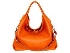 Leather handbag handmade orange HOFFMANN by LeatherBagHOFFMANN on Etsy https://www.etsy.com/listing/243691897/leather-handbag-handmade-orange-hoffmann