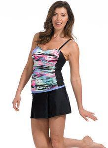 Plus Size Shockwave Bandeaux Tankini Top Bandeau Tankini, Tankini Top, Women's Swimwear, Mix N Match, Latest Trends, Sporty, Plus Size, Collection, Tops