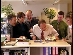 office birthday cakes party pic