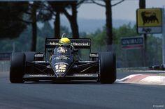 Ayrton Senna (BRA) (John Player Special Team Lotus), Lotus 97T - Renault V6 Turbo San Marino, 1985.