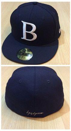 3518d5804b2 AUTH B by YOHJI YAMAMOTO X NEW ERA 17AW BLACK WOOL EMBROIDERED B LOGO CAP  HAT