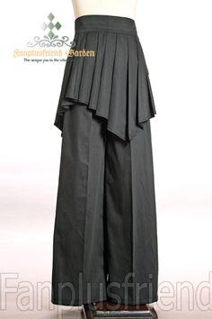 Fanplusfriend Last Chance  Elegant Gothic Dandy Pirate Long Pants Pleated  Wrap Instant Shipping Breda Benbyxor e6b0da1bb86db