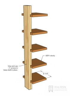 Ana white build a high rise shelf free and easy diy project and furniture plans