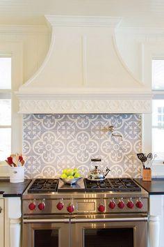 Italian Art Tile Backsplash