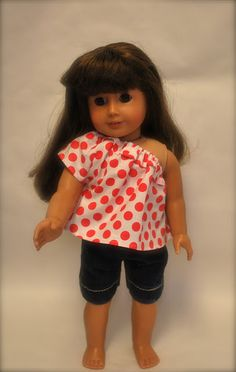 The Blueberry Moon: American Girl Doll got Shorts & an Off-the-Shoulder Top
