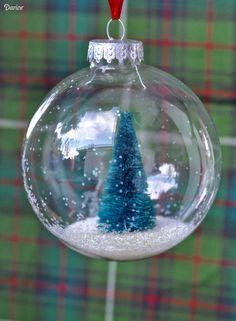 Snow Globe Ornaments DIY Tutorial