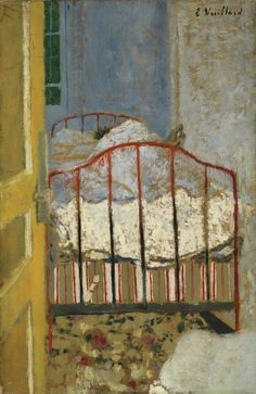 Edouard Vuillard(1868-1940) Intimité,1896. Oil on board.