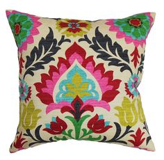 suzani motif throw pillow