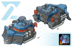 Snow Crusher Game Concept, Character Concept, Concept Cars, Zoids, Poly Tanks, Steampunk Artwork, Game Props, Sci Fi Ships, Pre Production