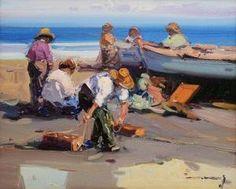 Gabriel Casarrubios - Spanish Fishermen On The Beach
