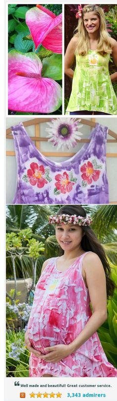 fcbe9894992 Hand painted clothing Plus size cotton tunic workout top maternity wear  hawaiian shirt