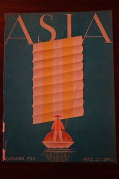 November 1928 Asia Magazine COVER ONLY Frank McIntosh - Man on Raft in Collectibles, Photographic Images, Vintage & Antique (Pre-1940), CDVs | eBay