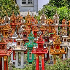 Spirit Houses are everywhere in Thailand