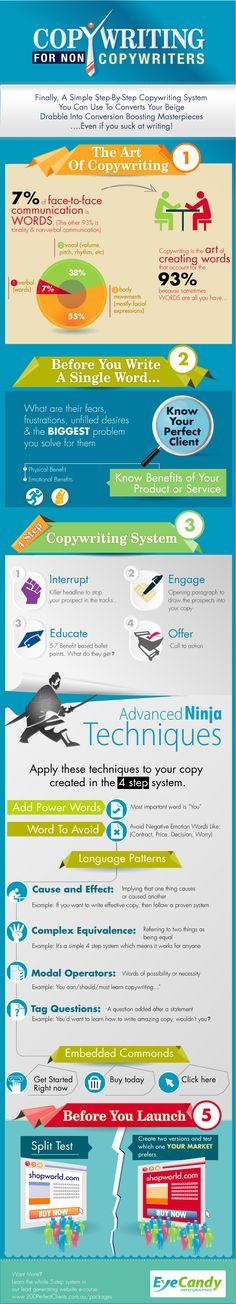 Copy Writing for Non Copywriters #infographic #Copywriting #ContentMarketing http://www.intelisystems.com