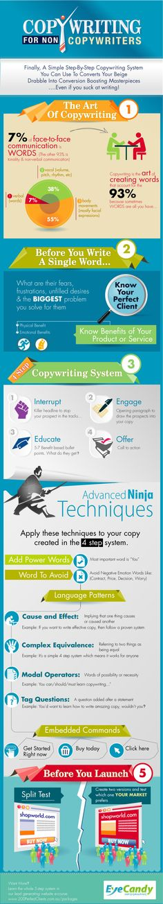 Copy Writing for Non Copywriters | #Copywriting #ContentMarketing #infographic