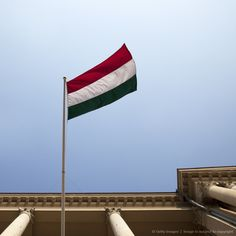 The national flag of Hungary