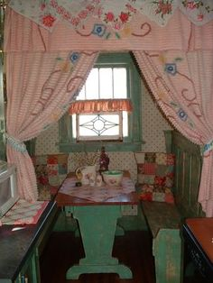 curtains made from chenille bedspread