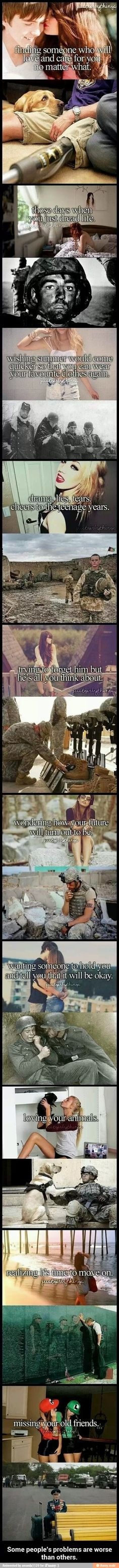 Finally a worthwhile picture! Teenage problems versus military