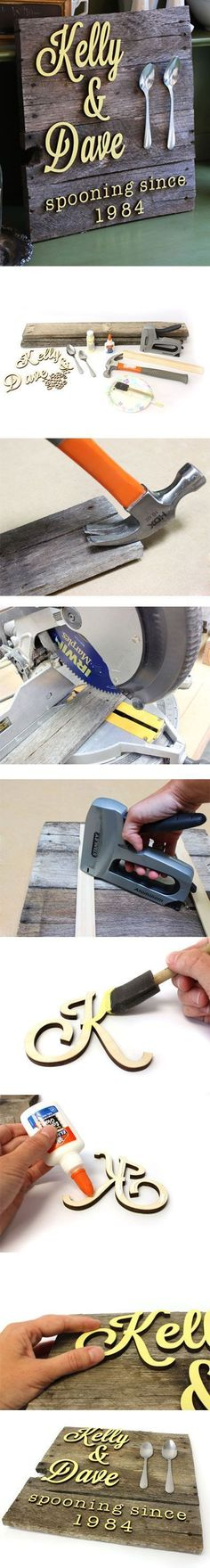Plans of Woodworking Diy Projects - The Most Beautiful 101 DIY Pallet Projects To Take On Get A Lifetime Of Project Ideas & Inspiration! Pallet Ideas, Pallet Crafts, Pallet Art, Diy Pallet Projects, Pallet Signs, Woodworking Projects Diy, Woodworking Plans, Wood Crafts, Wood Projects