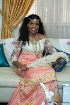 BellaNaija Bride Uju Photography by  Mgbolise & Kevin for SWG Photography Fabrics by Be Dazzled Asoebi & More Make up by BM Pro Nigerian Wedding Makeup igbo wedding igba nkwu wine carrying naija bride